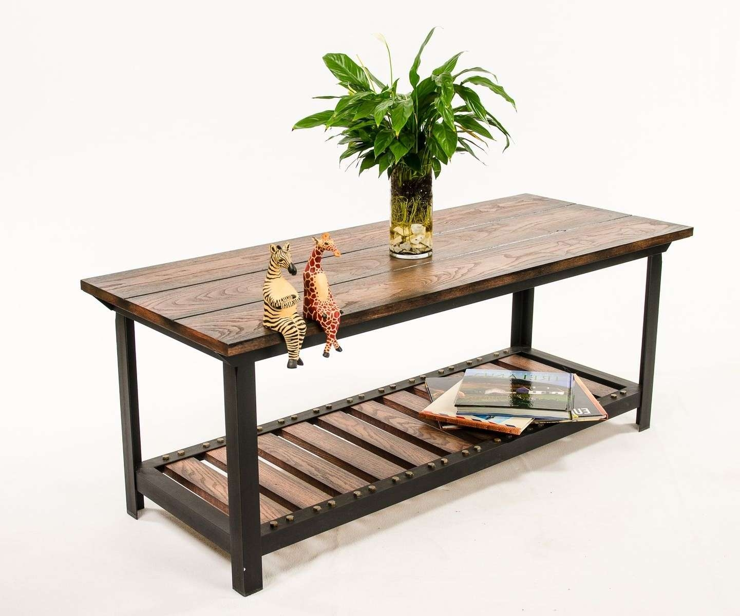 Custom Made Vintage Industrial Style Coffee Tableagainst The Throughout Most Recent Coffee Table Industrial Style (View 18 of 20)