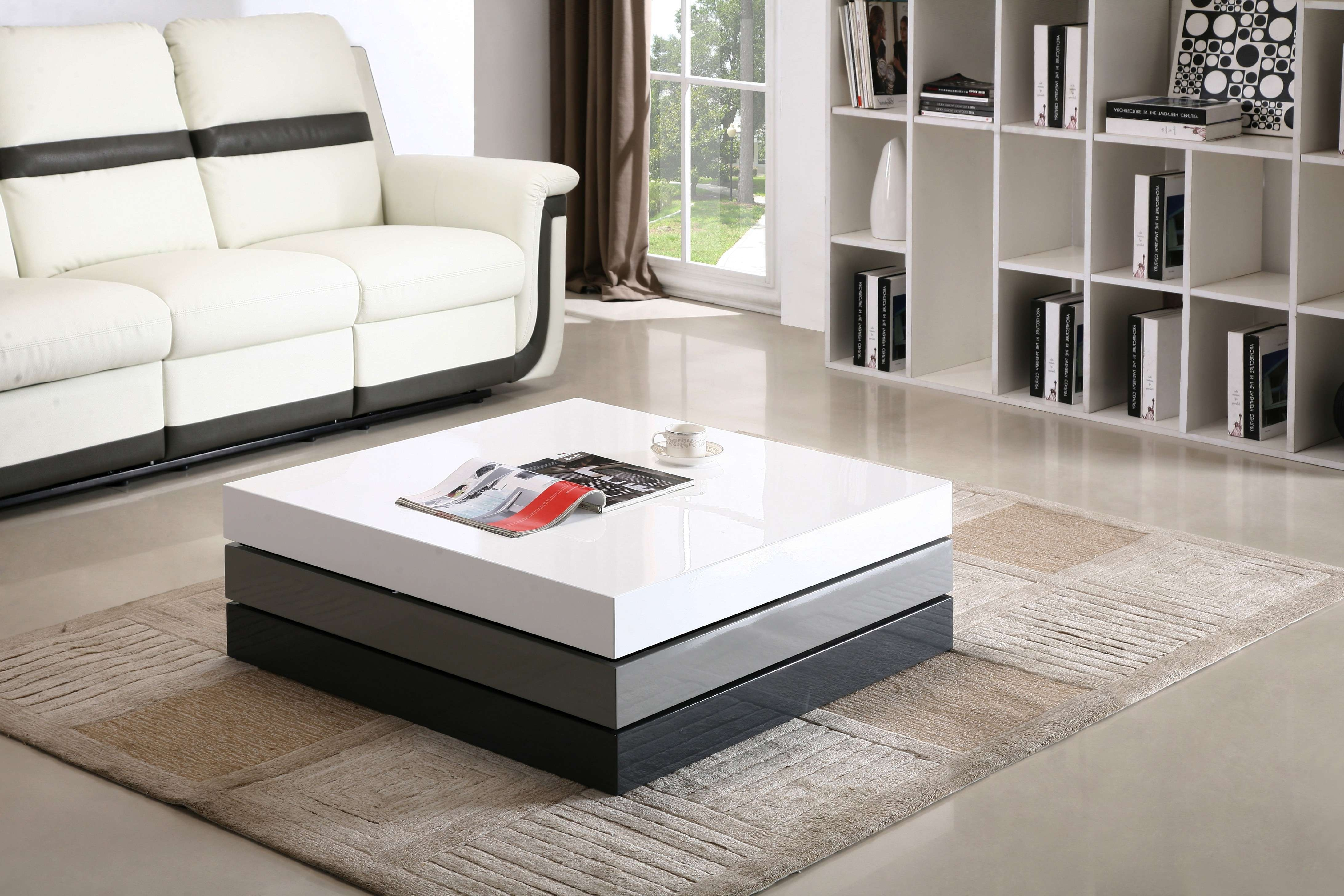 Cw01 Modern Coffee Table Within Recent Contemporary Coffee Table Sets (View 7 of 20)