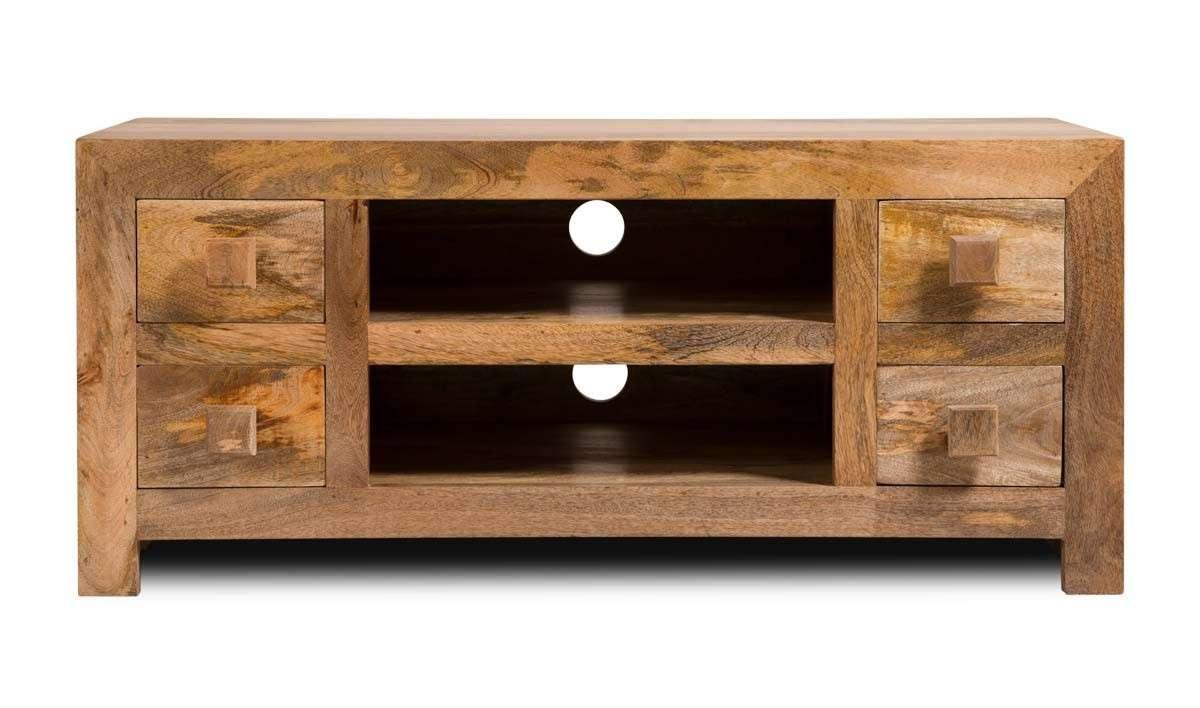 Dakota Light Mango Low Tv Unit | Casa Bella Furniture Uk Throughout Mango Wood Tv Cabinets (View 5 of 20)