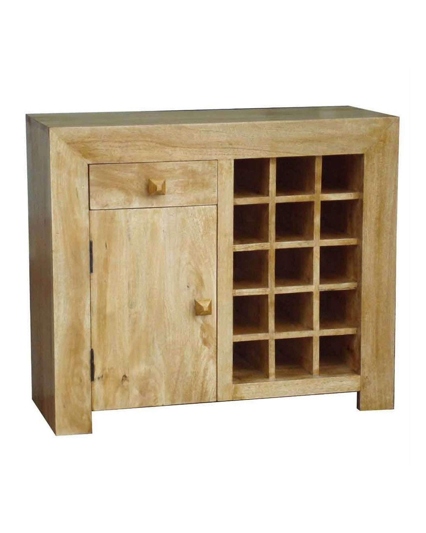 Dakota Sideboard With Wine Rack Oak Shade – Homescapes Intended For Sideboards With Wine Rack (View 2 of 20)
