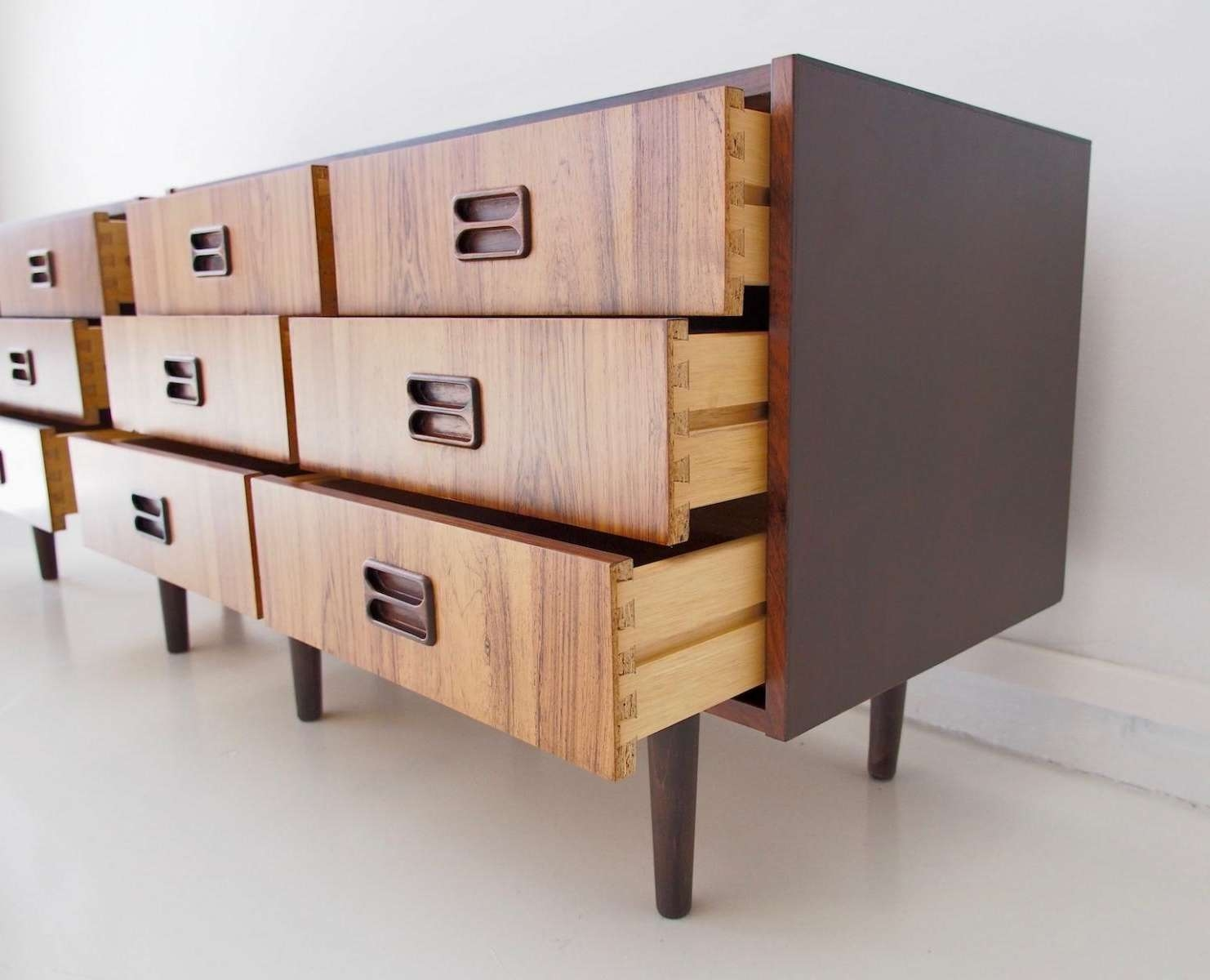 Danish Modern Sideboards With Six Drawers, 1960s, Set Of 2 For Intended For Sideboards With Drawers (View 4 of 20)