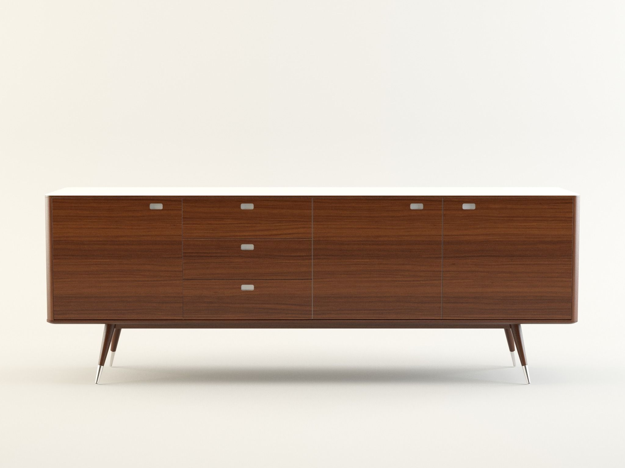 Danish Retro Sideboard 3D | Cgtrader Inside Danish Retro Sideboards (View 3 of 20)