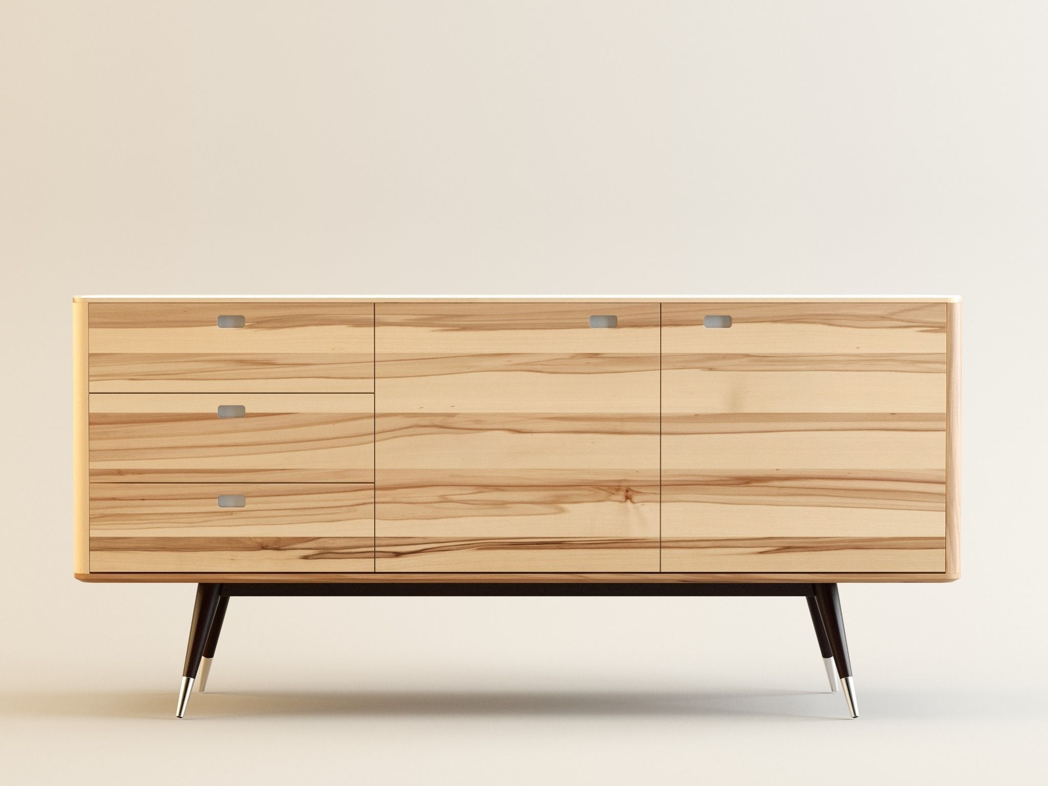 Danish Retro Sideboard 3D | Cgtrader Regarding Danish Retro Sideboards (View 4 of 20)