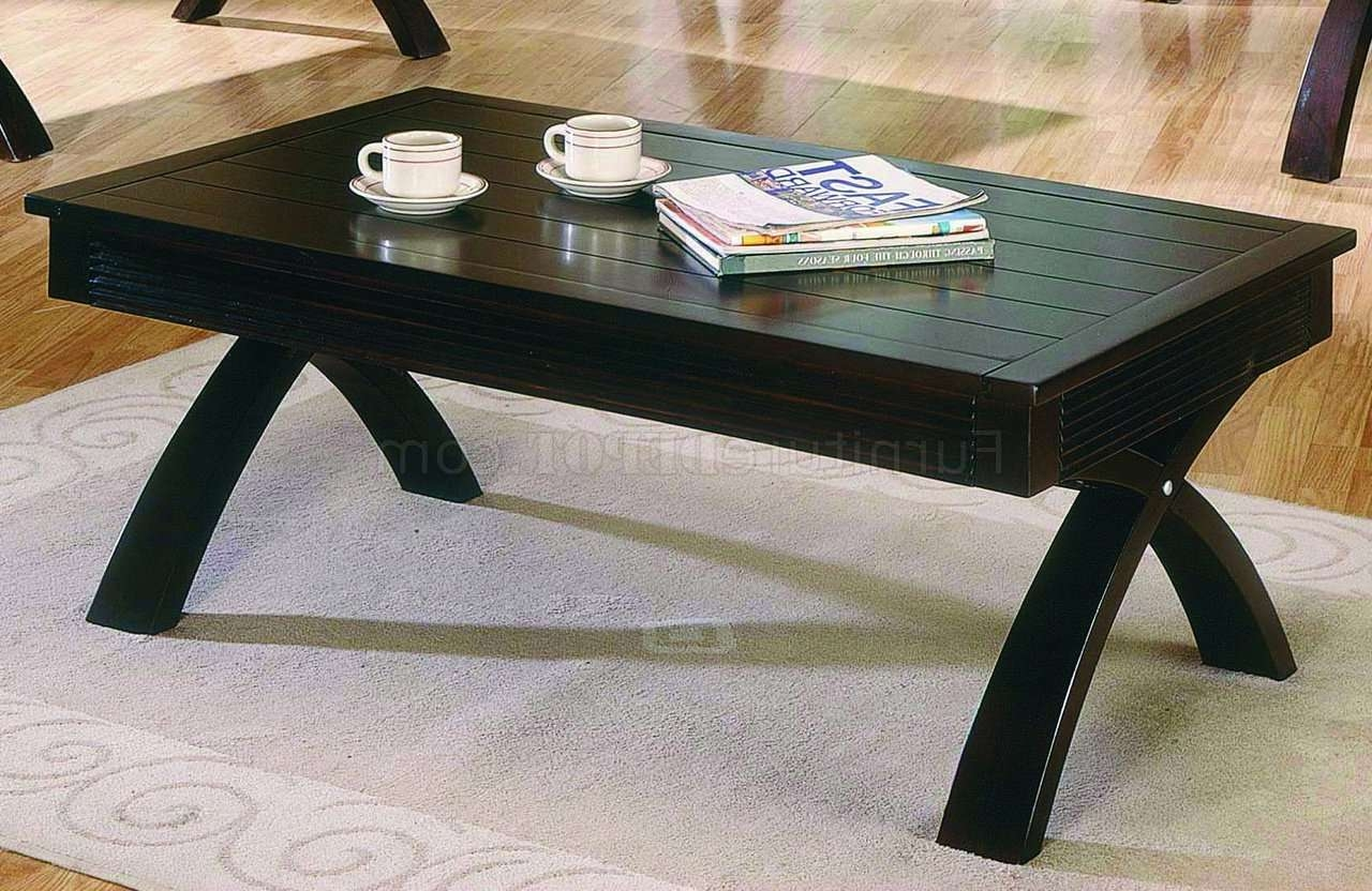 Dark Brown Contemporary Coffee Table W/fold Out Table Top Within Most Up To Date Dark Brown Coffee Tables (View 10 of 20)