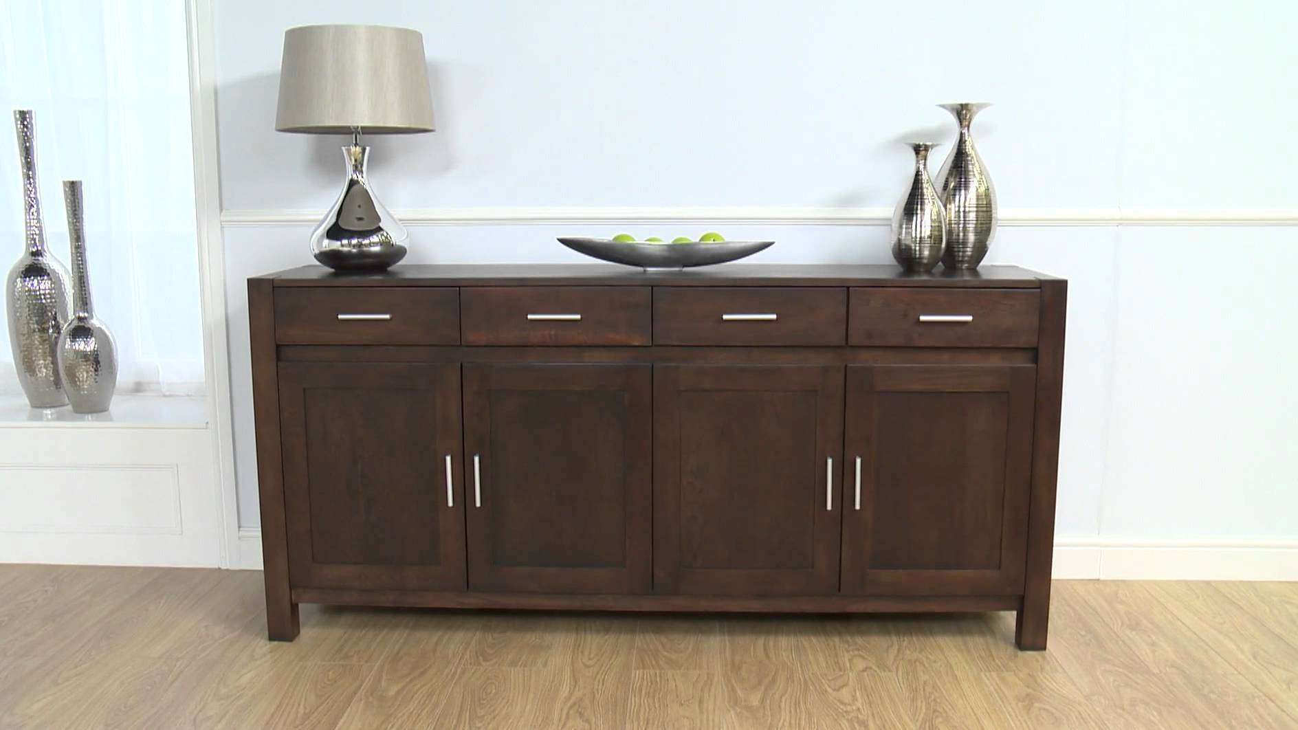 Dark Wood Sideboard: Verona Dark Oak Sideboard Xl – Youtube For Wood Sideboards (View 4 of 20)