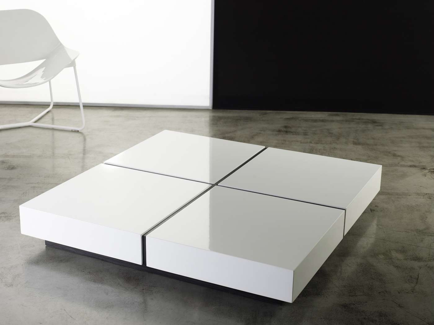 Dean Coffee Table White Lacquermodloft Pertaining To Most Popular Lacquer Coffee Tables (View 5 of 20)