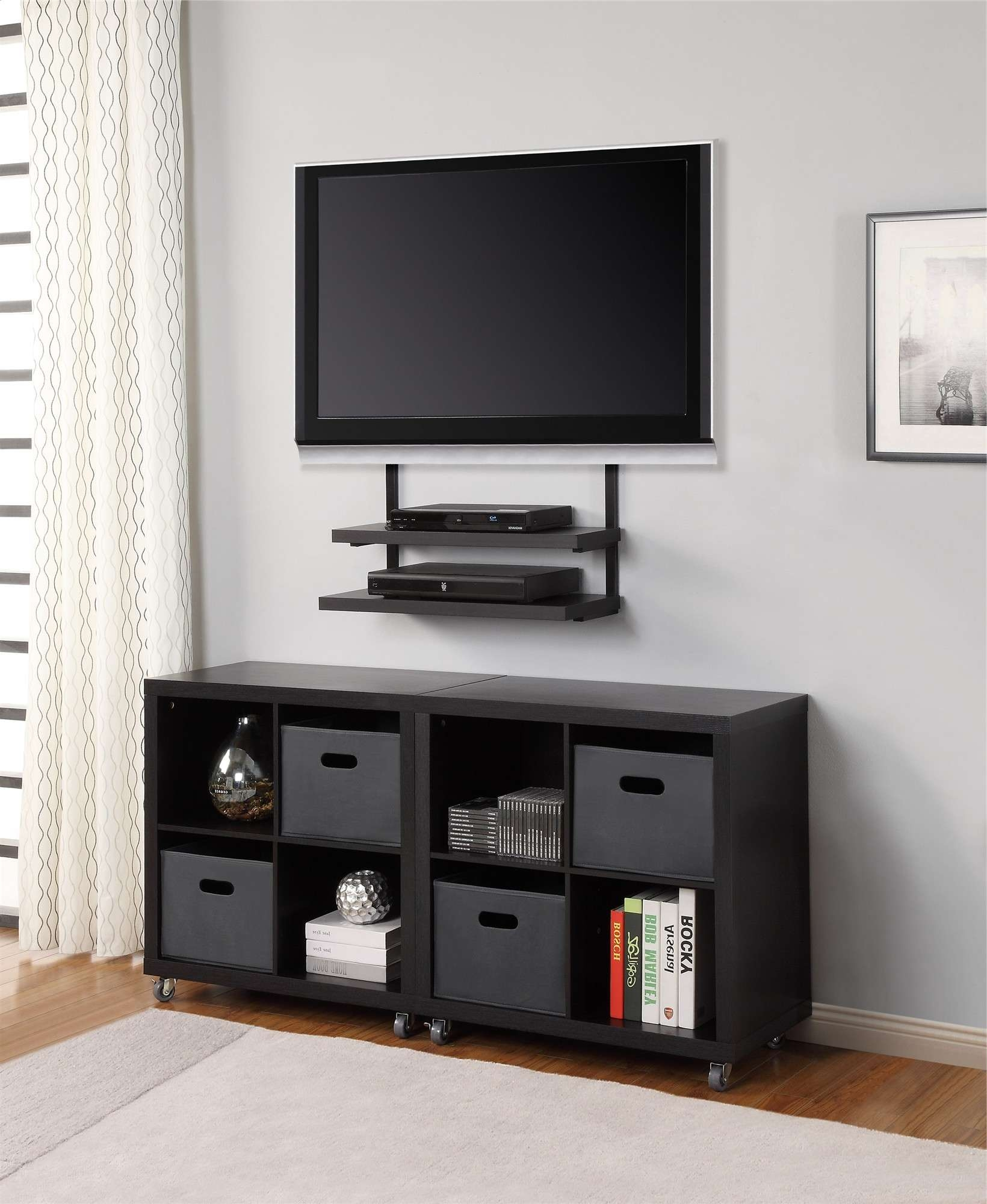 Decoration : 32 Tv Wall Mount Tv Wall Bracket With Dvd Shelf With Wall Mounted Under Tv Cabinets (View 3 of 20)