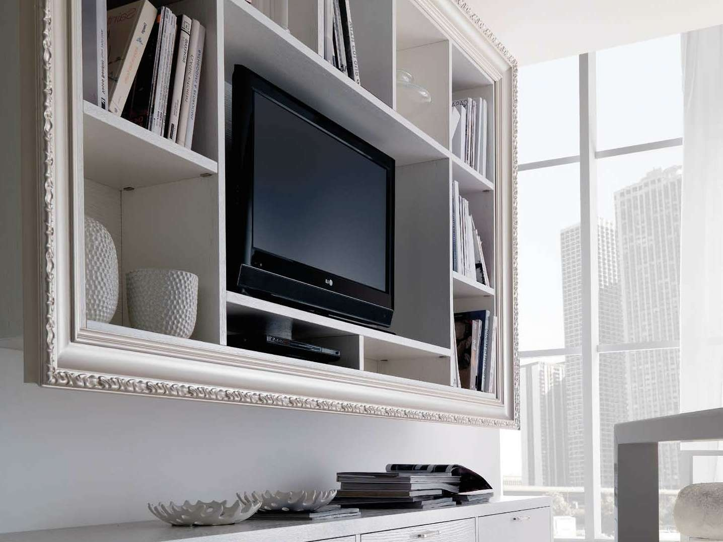 Decoration : Wall Mounted Tv Stands With Shelves 3 Wall Mount Tv Throughout Full Wall Tv Cabinets (View 7 of 20)