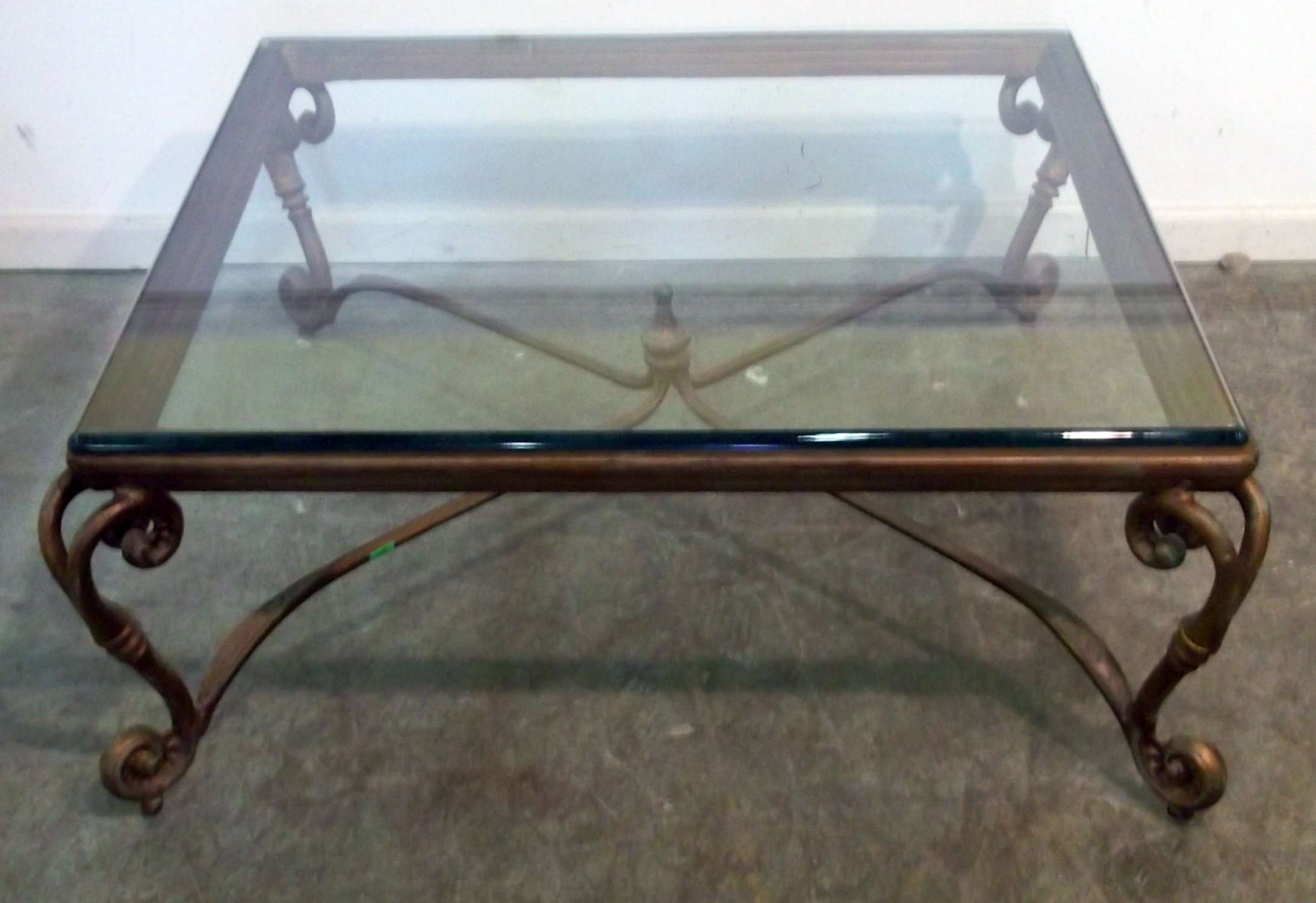 Decorations : Modern Glass Coffee Table With Gold Stailess Awesome Pertaining To Most Recent Square Glass Coffee Tables (View 8 of 20)