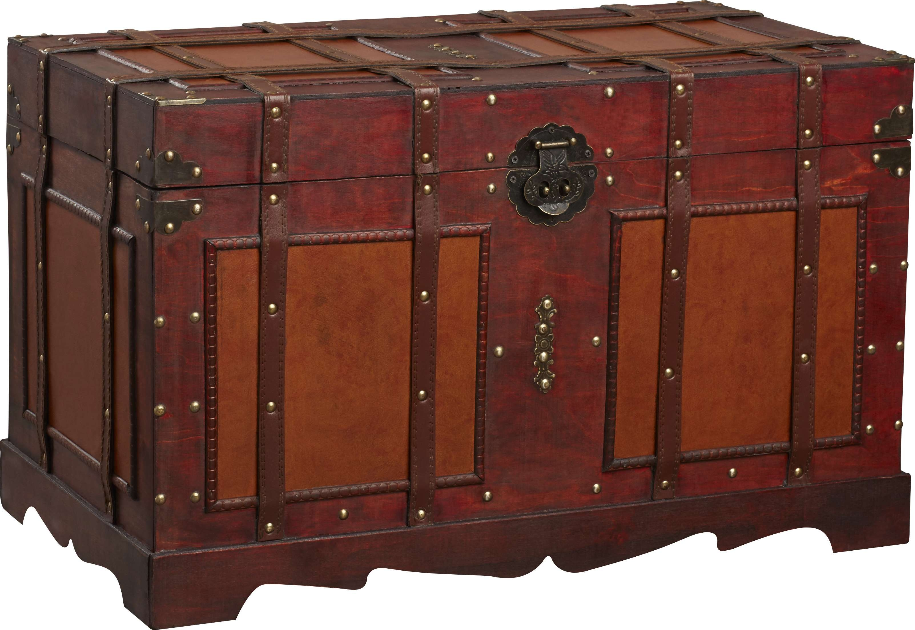 decorative vintage storage rustic steamer wooden trunks decor travel chest trunk coffee vinterior table listings