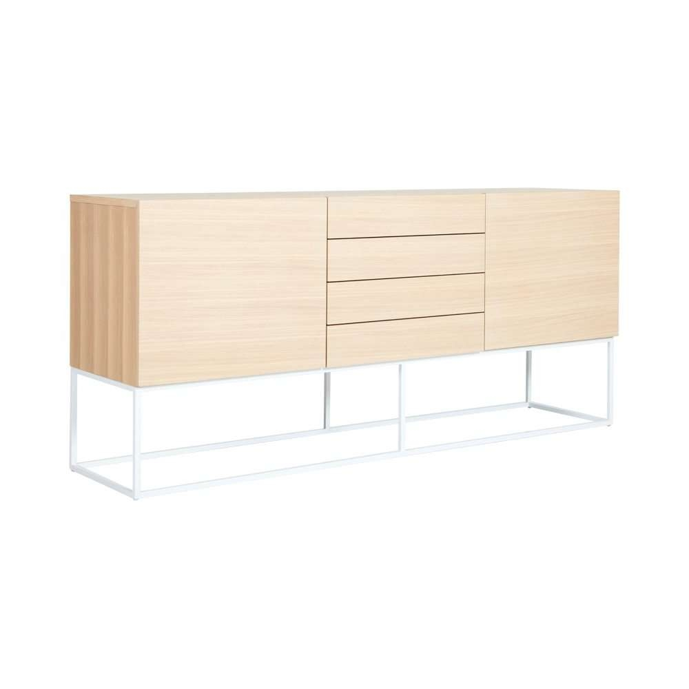 Designer American Oak Balmain Buffet/sideboard – White Steel Metal With Regard To White Buffet Sideboards (View 9 of 20)