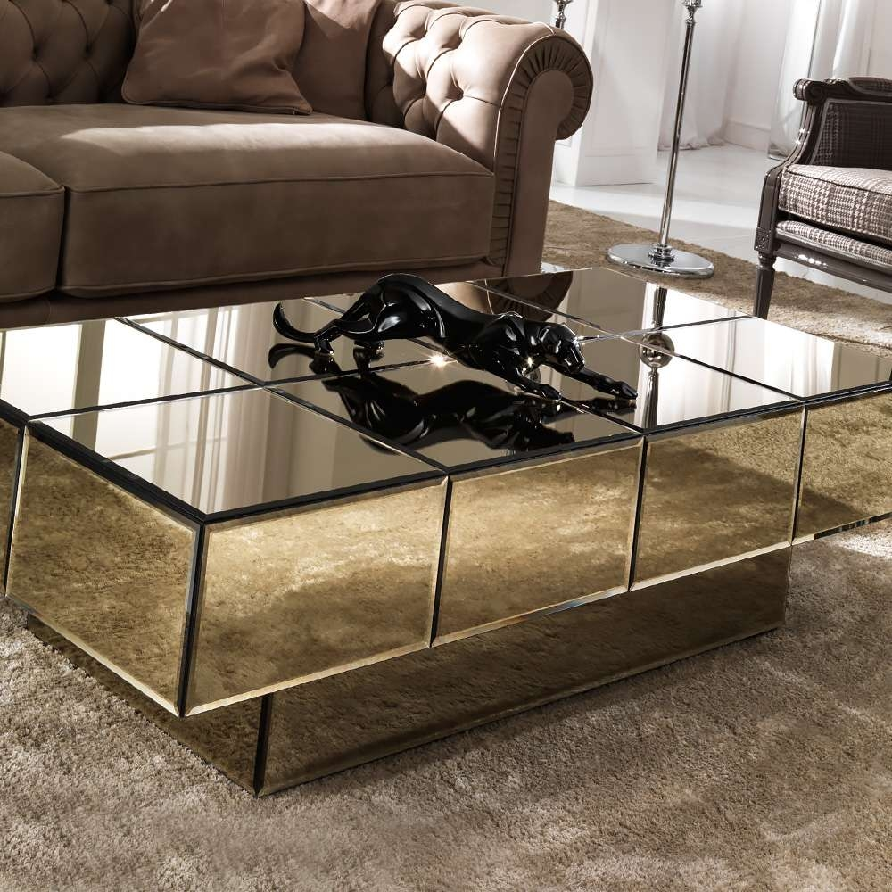 Designer Bronze Glass Storage Coffee Table In Well Known Bronze And Glass Coffee Tables (View 10 of 20)