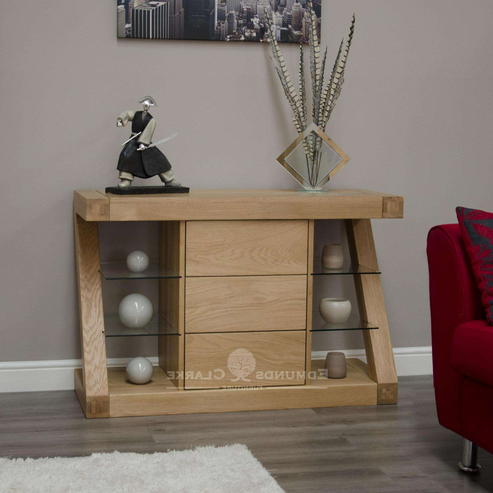 Designer Solid Oak Small Sideboard – Oak Sideboards For The With Regard To Lounge Sideboards (View 3 of 20)