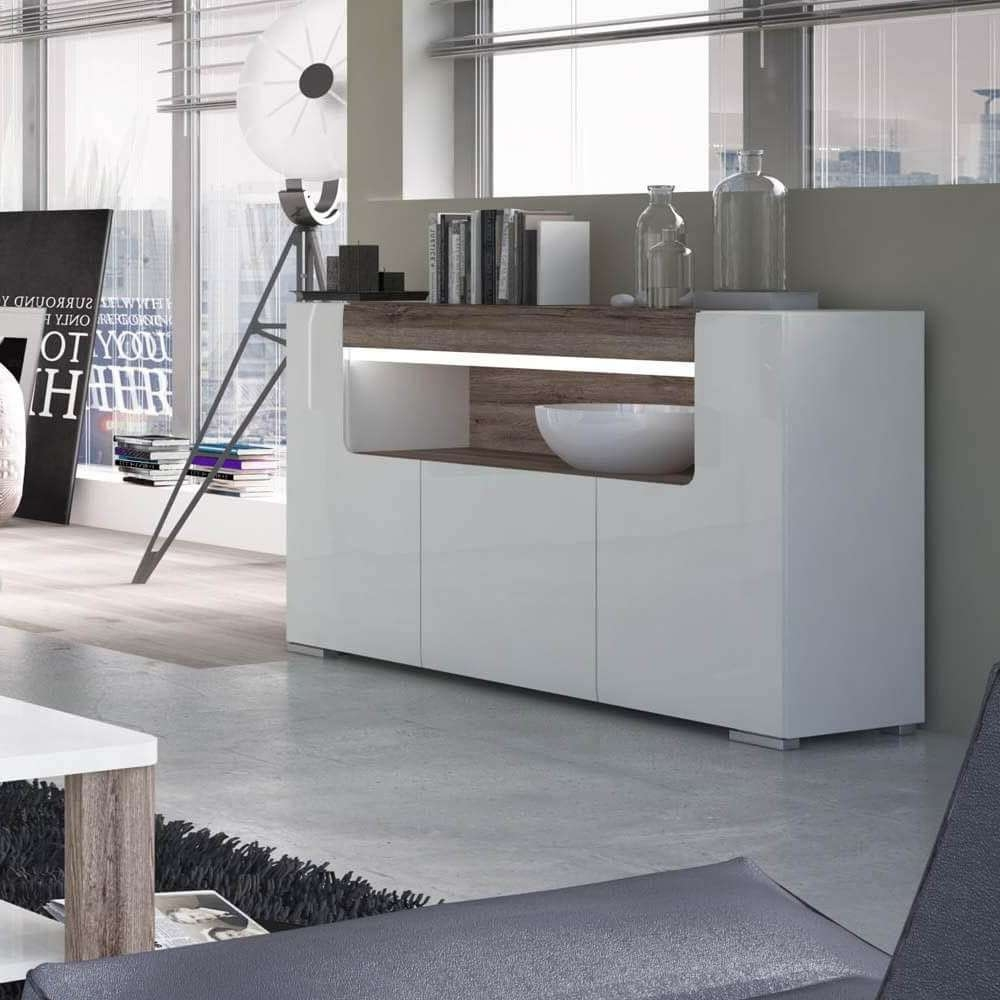 Designer Style White Sideboards   Gloss Furniture Online – Zurleys Uk Within White Sideboards (View 16 of 20)