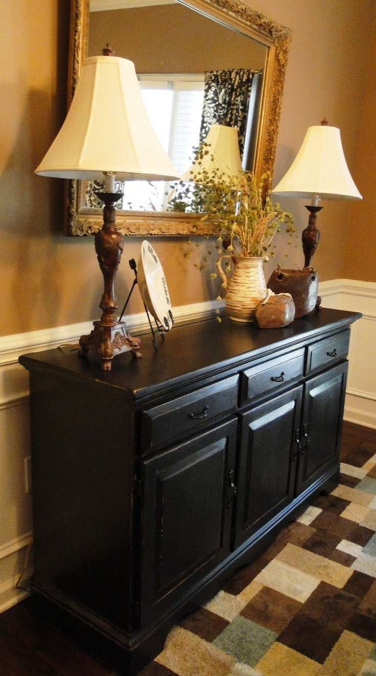 Dining Room: 25 Best Ideas About Black Dining Room Buffet Ideas Intended For Black Dining Room Sideboards (View 14 of 20)