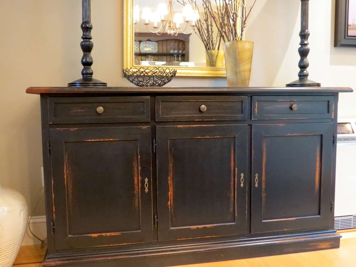 Dining Room Buffet Table Ideas » Gallery Dining Pertaining To Black Dining Room Sideboards (View 3 of 20)