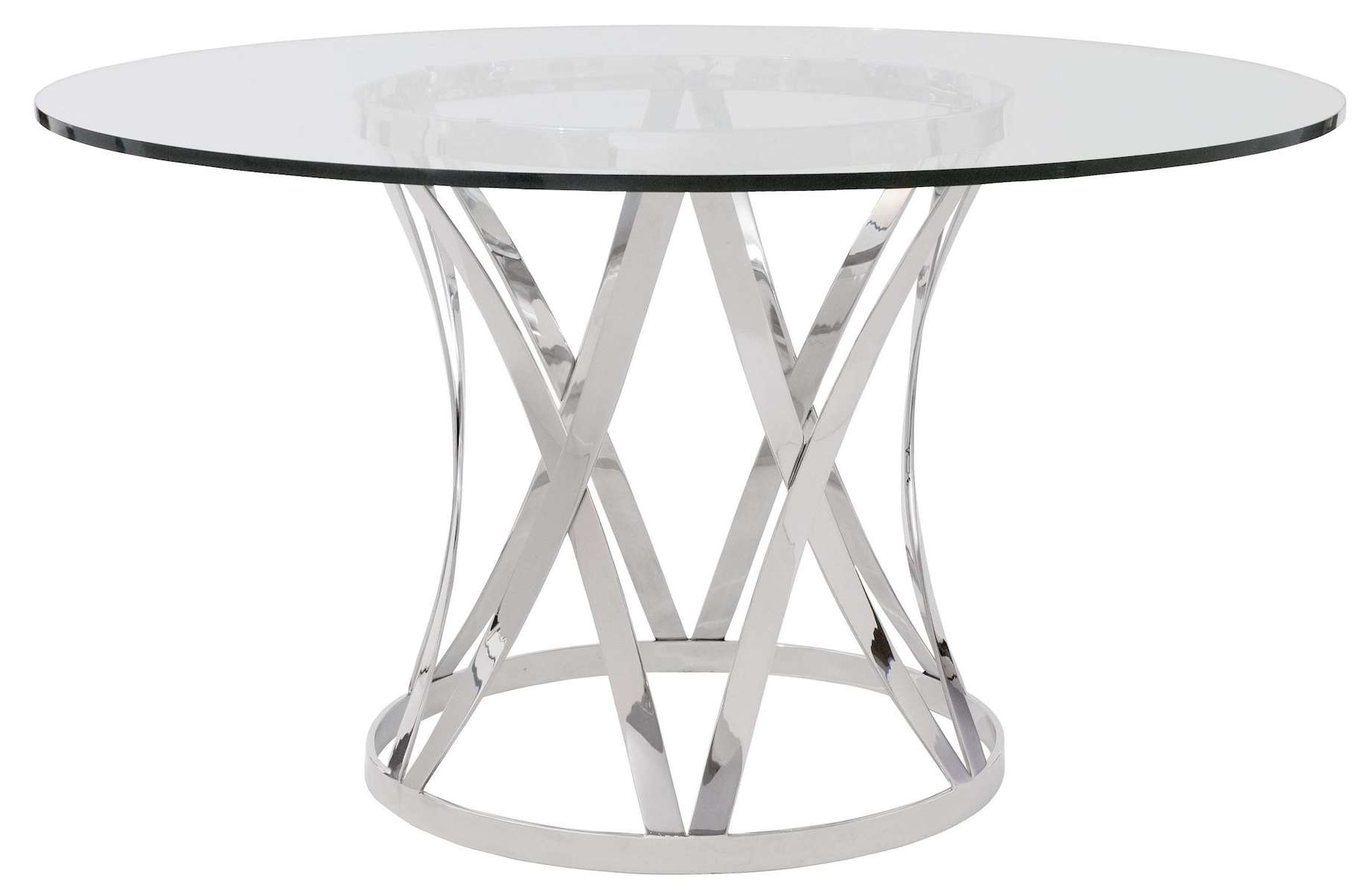 Dining Room : Dining Room Round Table Base For Glass Top With In 2017 Chrome Coffee Table Bases (View 11 of 20)