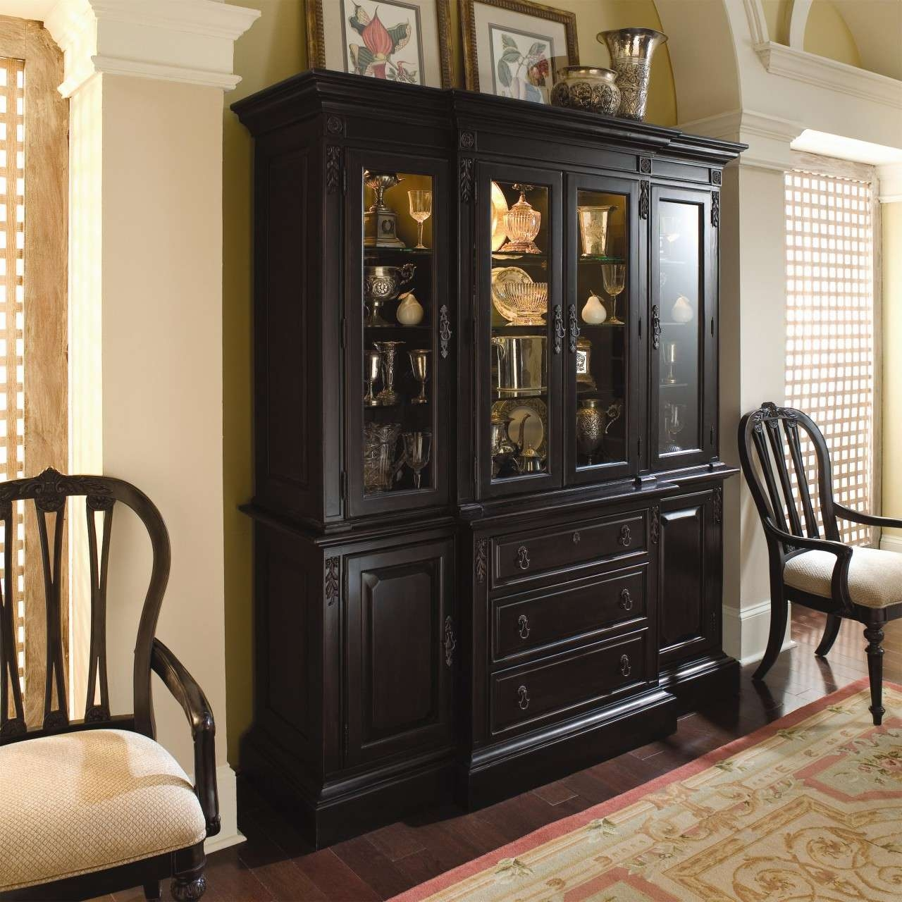 Dinning China Cabinet Dining Room Buffet Small Sideboard Buffet With Black Dining Room Sideboards (View 8 of 20)