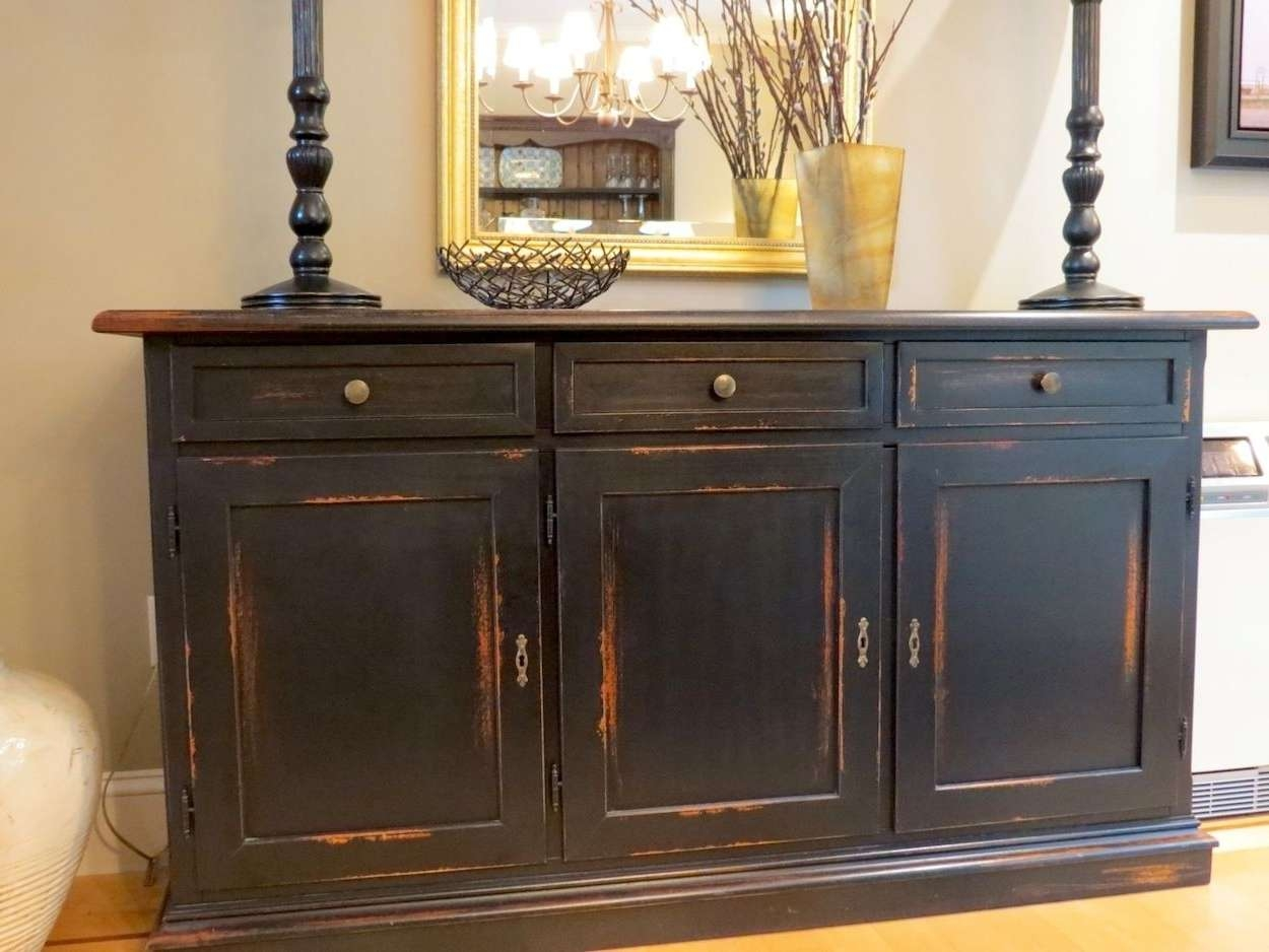 Distressed Sideboard Black : Rocket Uncle – Easy Diy Distressed Regarding Distressed Sideboards And Buffets (View 3 of 20)