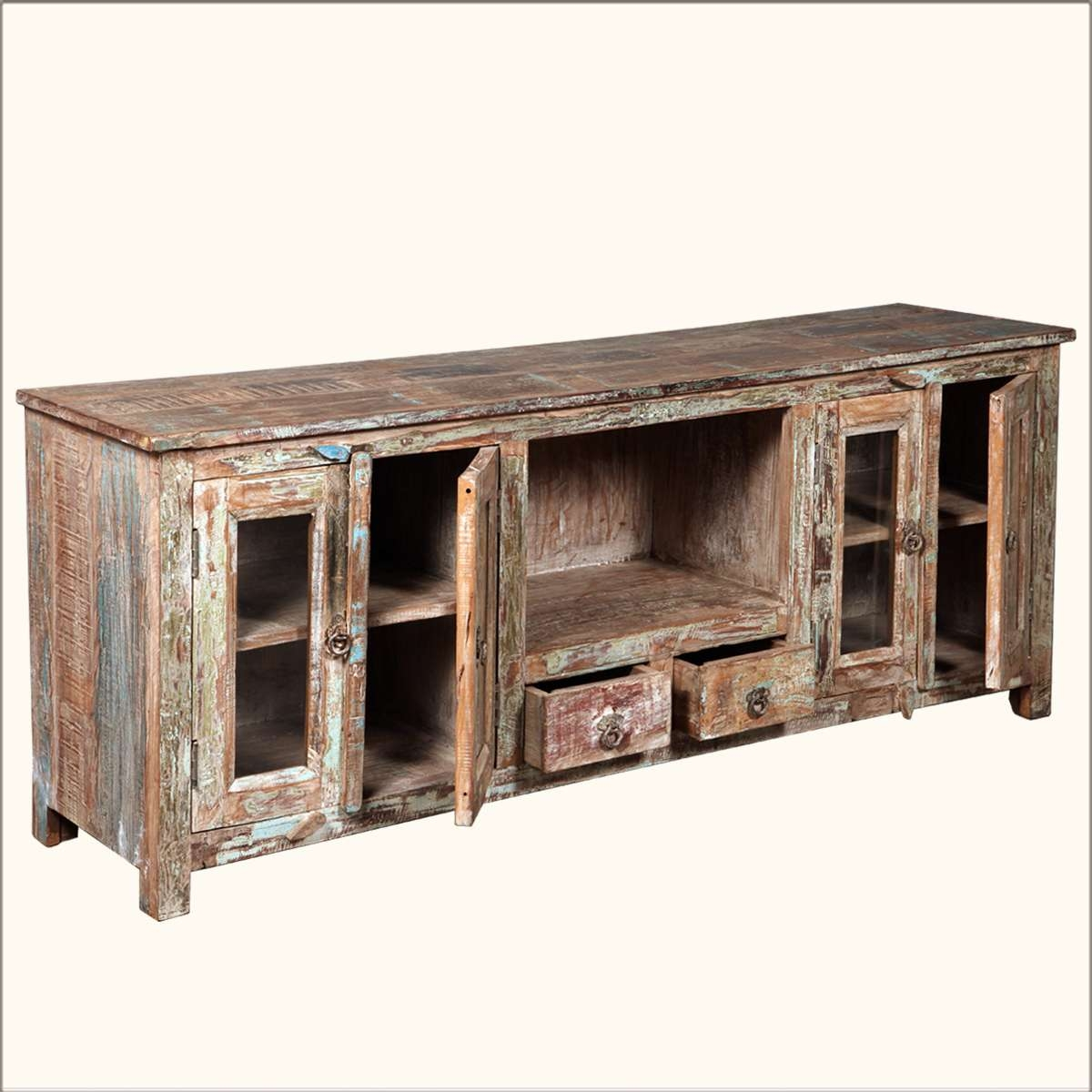 Distressed Wood Tv Stand Unconvincing Rustic Tv Stand Bedroom In Rustic Tv Cabinets (Gallery 11 of 20)