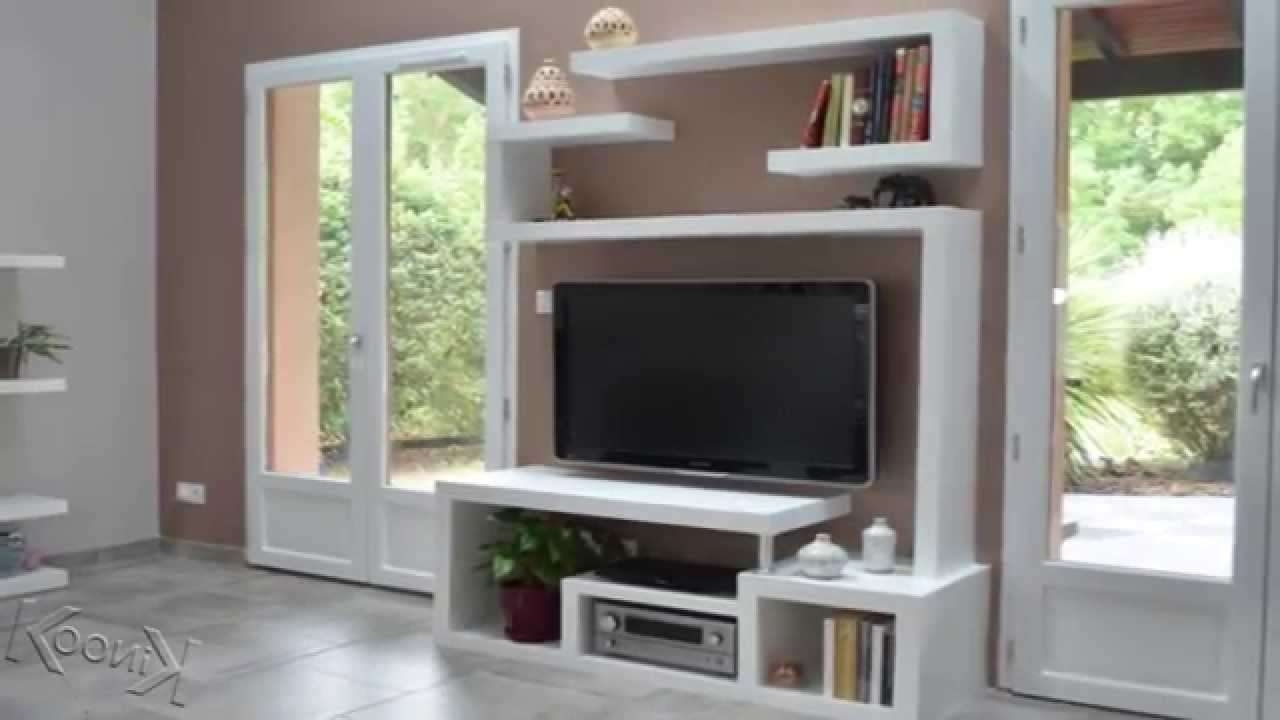Diy A Stylishtv Stand – Youtube With Stylish Tv Cabinets (View 4 of 20)