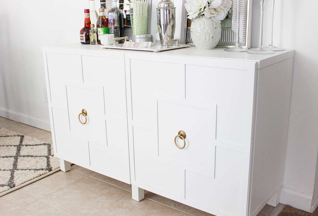 Diy Ikea Hack | Besta Cabinet Two Ways – Glam Latte Within Ikea Besta Sideboards (View 7 of 20)