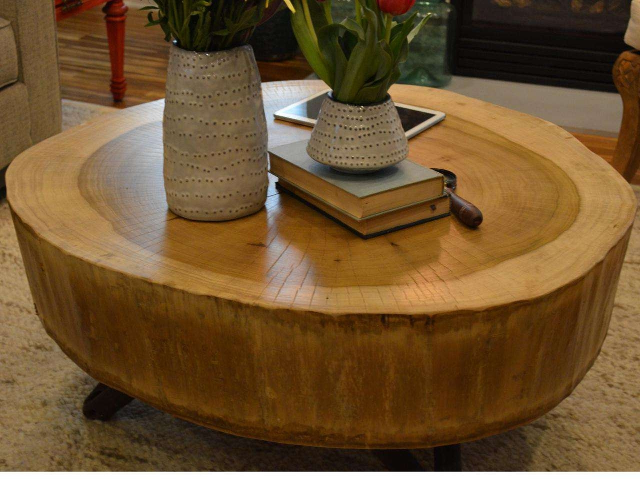 Diy Intended For Recent Tree Trunk Coffee Table (View 5 of 20)