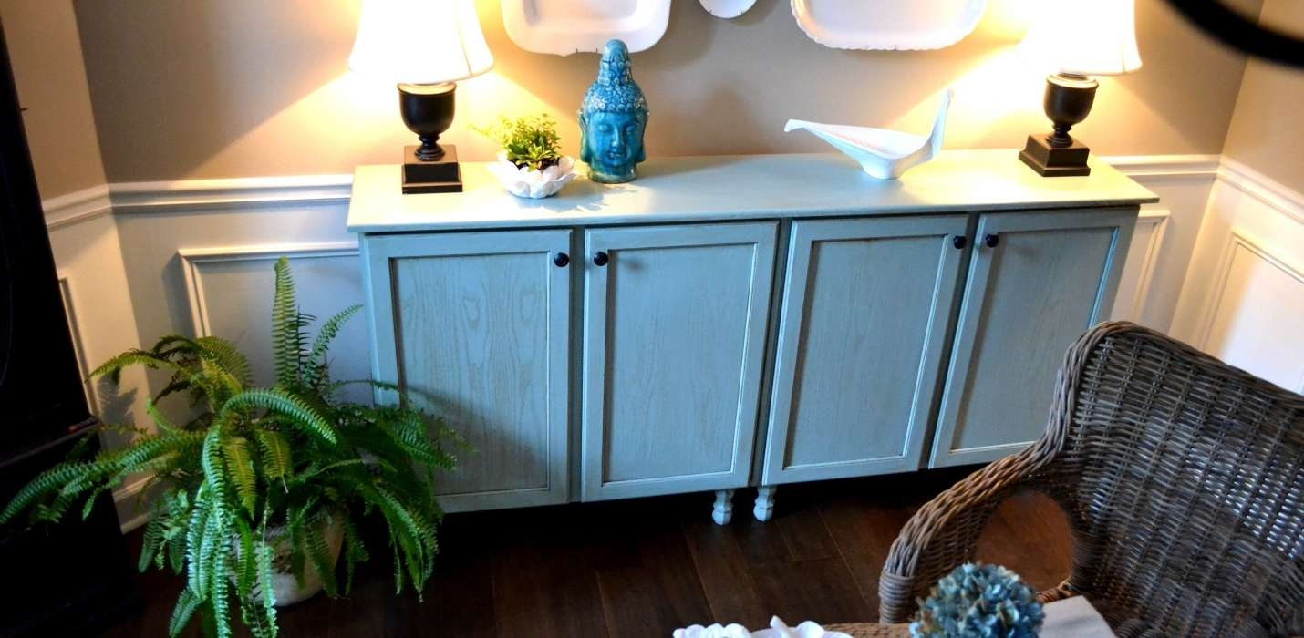 Diy Sideboard Lamps : Rocket Uncle – Diy Sideboard: New Look To With Regard To Blue Buffet Sideboards (View 8 of 20)