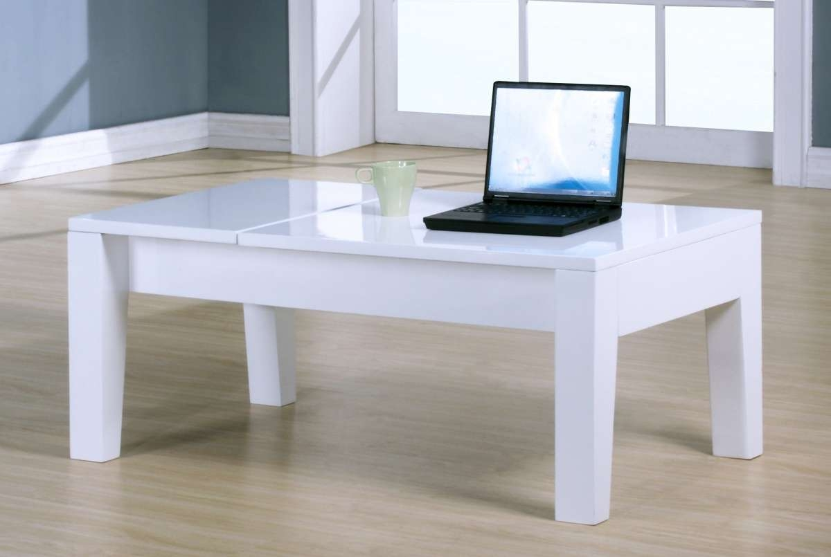 Dockland Prestige Residential » Alison Lift Up High Gloss Coffee Table Within Famous Gloss Coffee Tables (View 5 of 20)