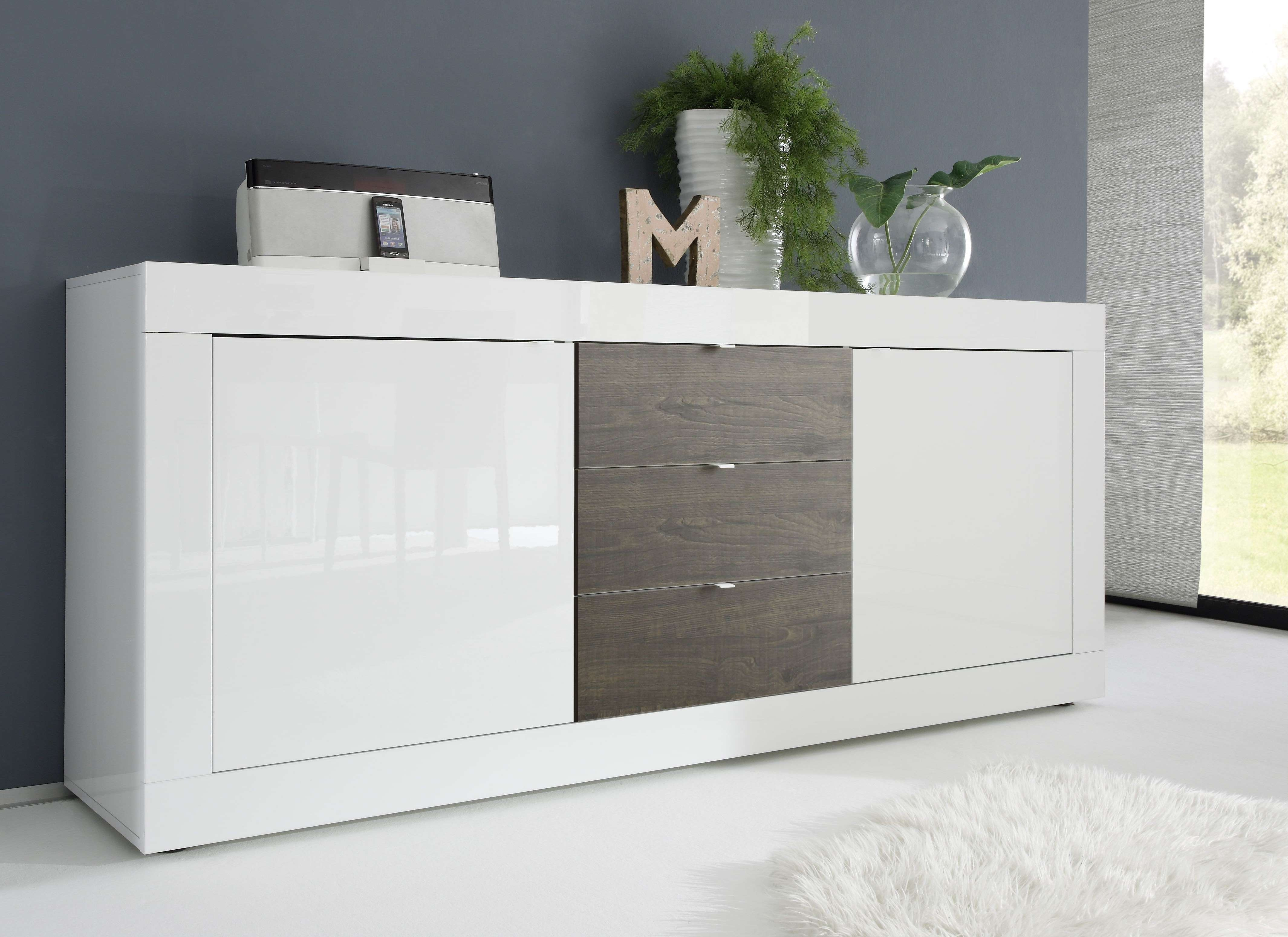 Dolcevita Ii White Gloss And Wenge Sideboard – Sideboards – Sena With Wenge Sideboards (View 4 of 20)