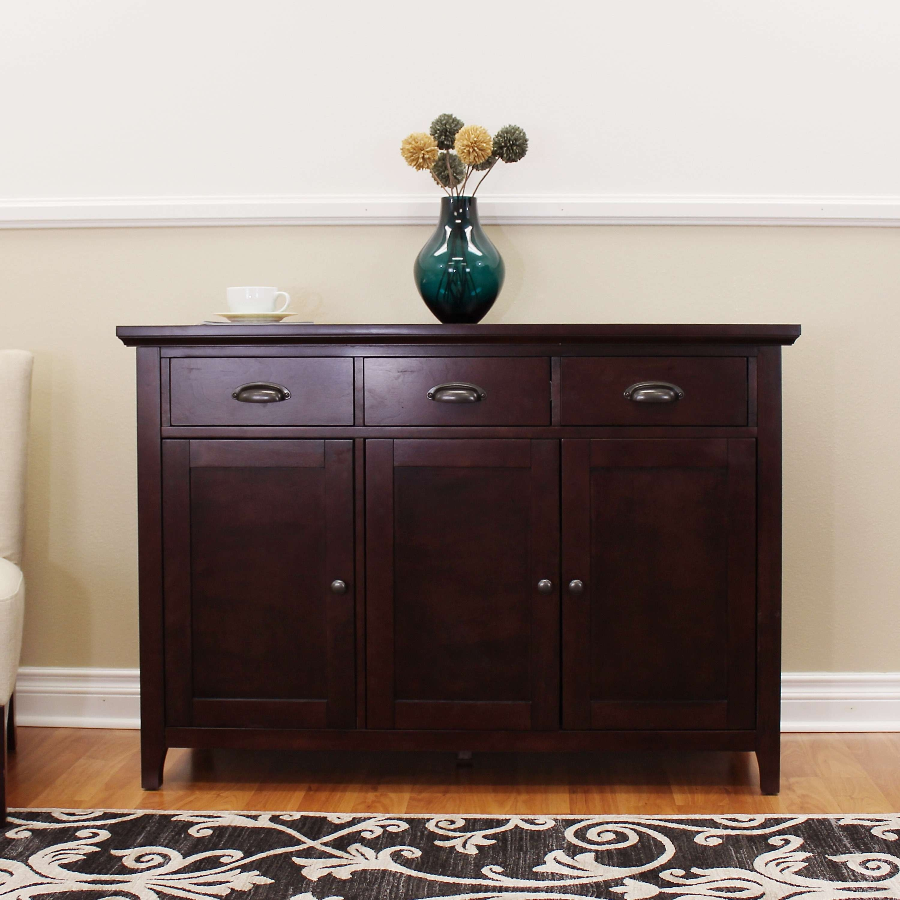 Donnieann Lindendale Espresso 47 Inch Sideboard / Buffet Table In Overstock Sideboards (View 8 of 20)