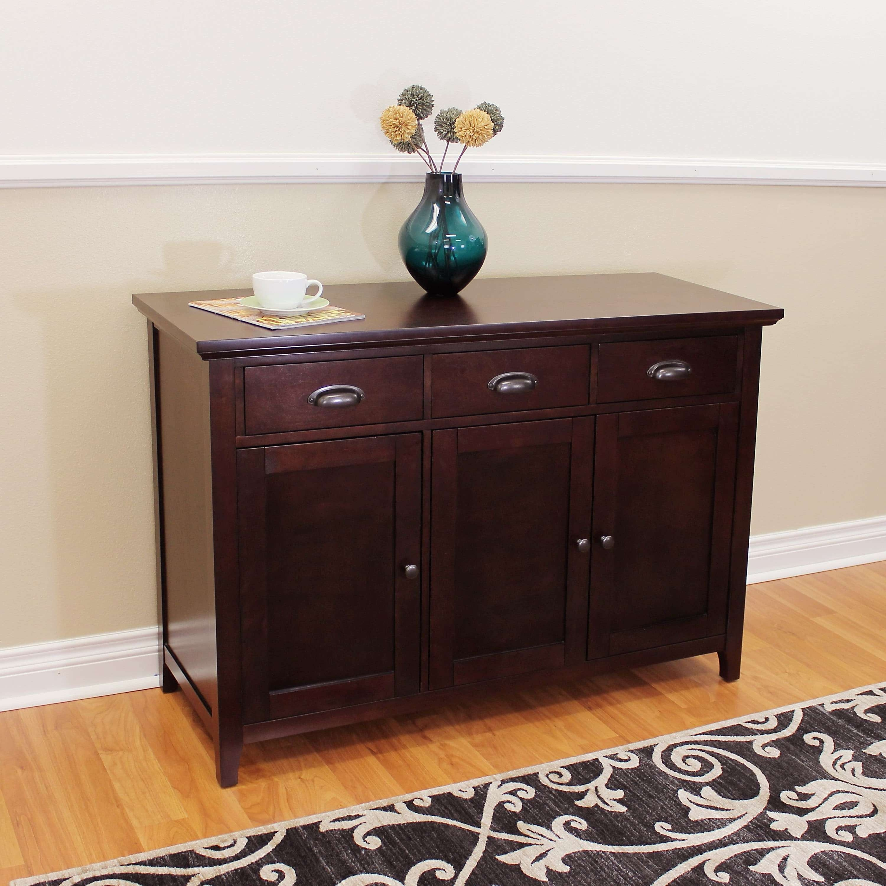 Donnieann Lindendale Espresso 47 Inch Sideboard / Buffet Table Inside Overstock Sideboards (View 9 of 20)