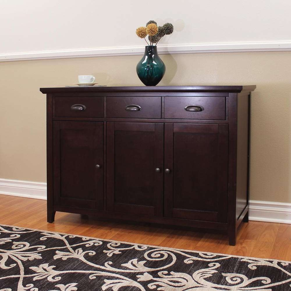 Donnieann Lindendale Espresso Sideboard/buffet Table 714160 – The With Sideboards Buffet Furniture (View 9 of 20)
