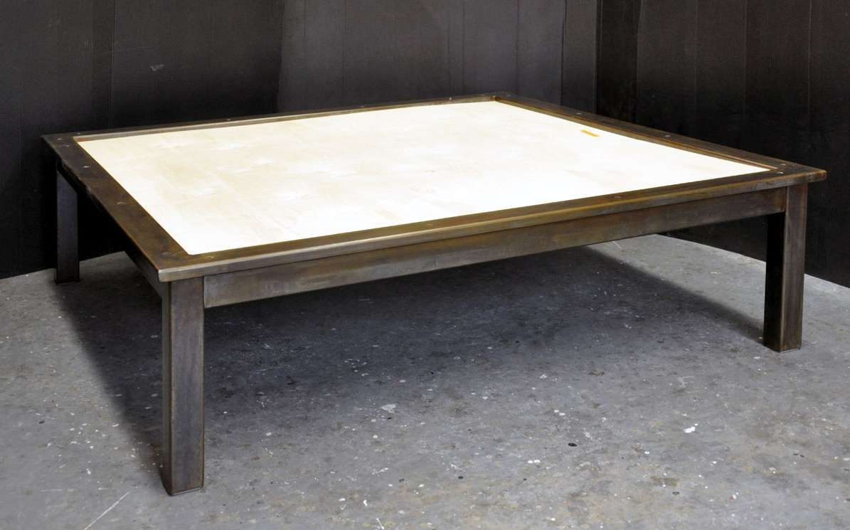Dorset Custom Furniture – A Woodworkers Photo Journal: A Steel And Throughout Most Current Stone Coffee Table (View 10 of 20)