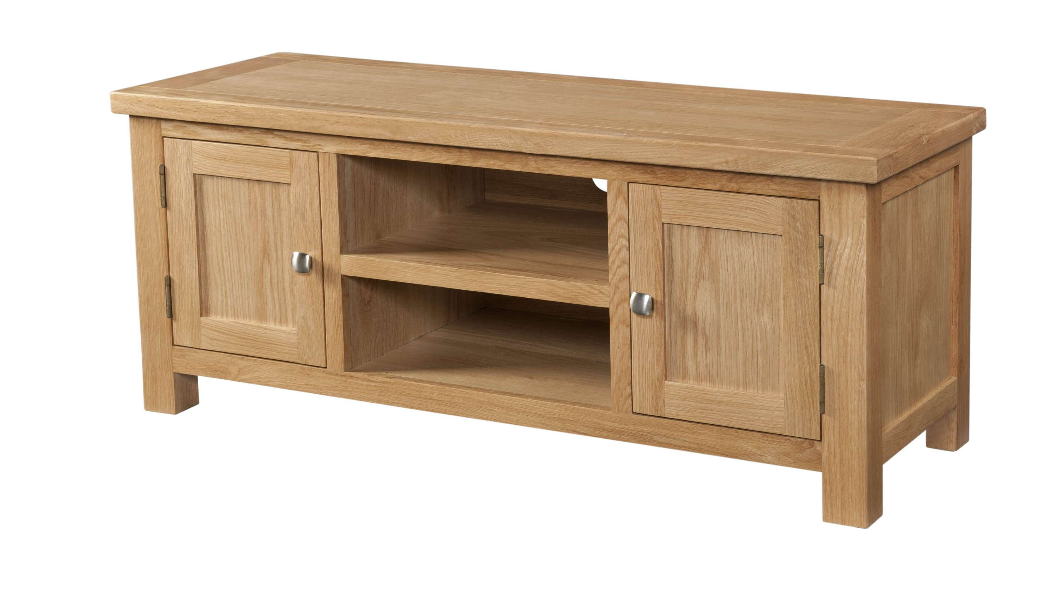 Dorset Large Oak Tv Cabinetdorset Large Oak Tv Cabinet – Branches For Large Oak Tv Cabinets (View 4 of 20)