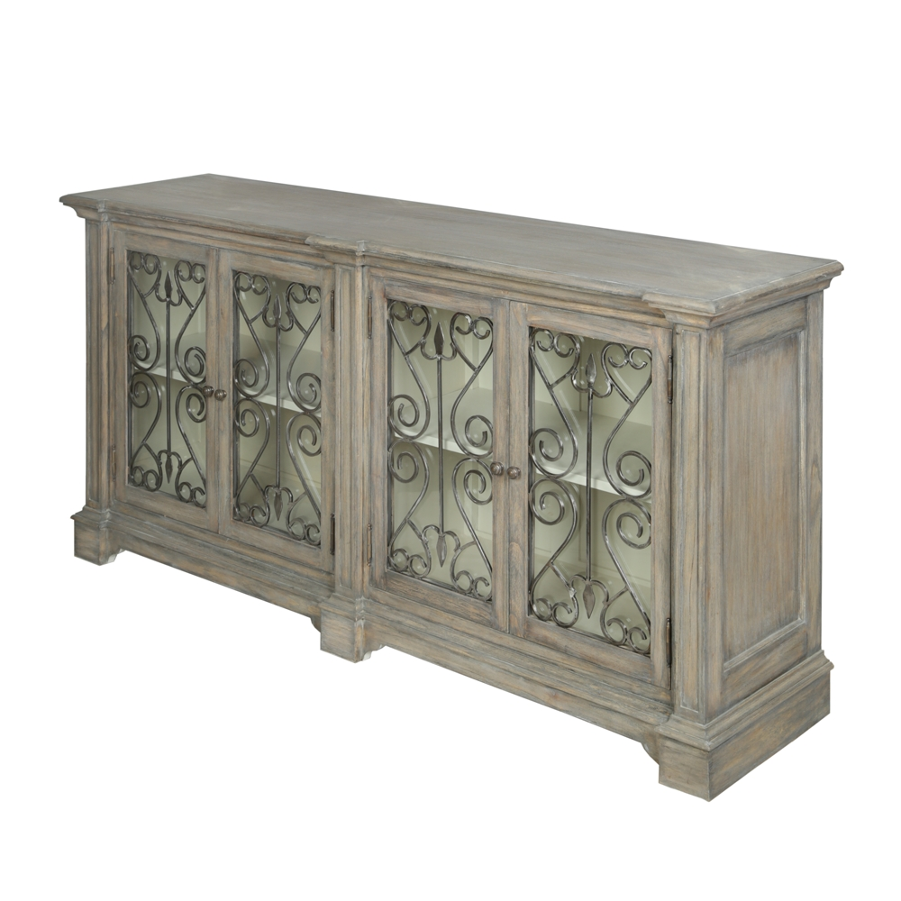 Dorset Metal Front Contemporary Large Sideboard | French Style Pertaining To Large Sideboards (View 8 of 20)