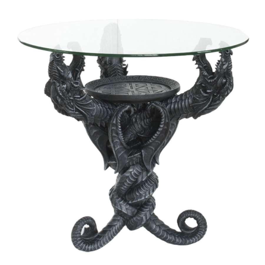 Dragon Glass Topped Sculptural Dragon Table With Round Glass Regarding 2018 Dragon Coffee Tables (View 8 of 20)