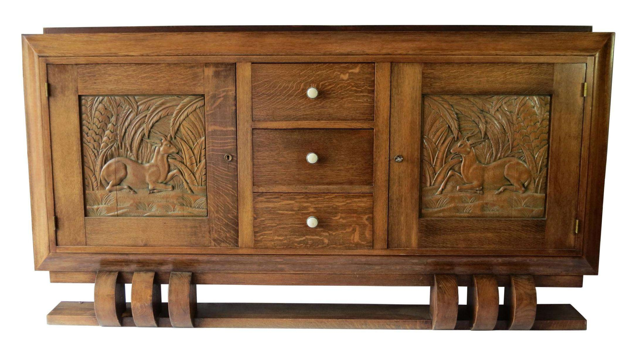 Dudouyt French Art Deco Sideboard With Carved Biches | Modernism With Art Deco Sideboards (View 6 of 20)