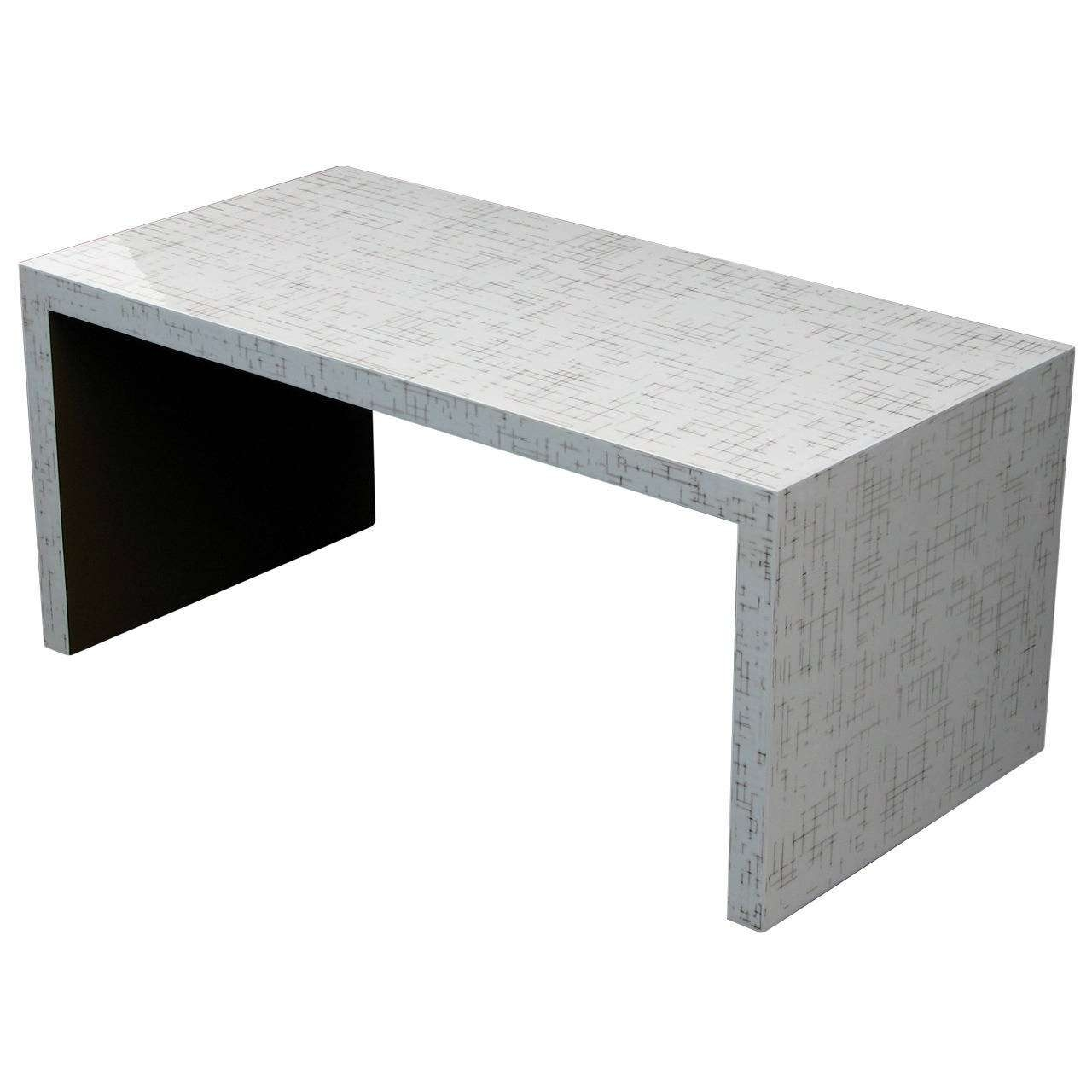 Dusted Lacquer Waterfall Table For Sale At 1Stdibs Inside Most Popular Lacquer Coffee Tables (View 6 of 20)