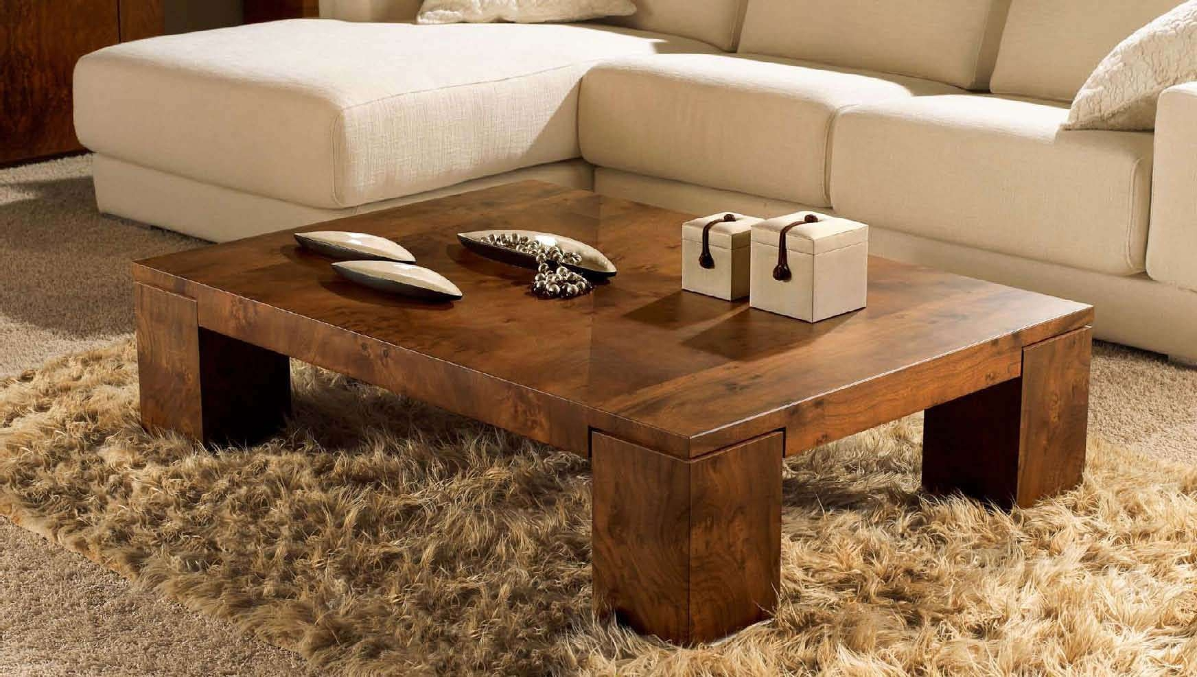 Easy Wooden Coffee Table Set For Small Home Decor Inspiration Intended For Newest Wooden Coffee Tables (View 8 of 20)