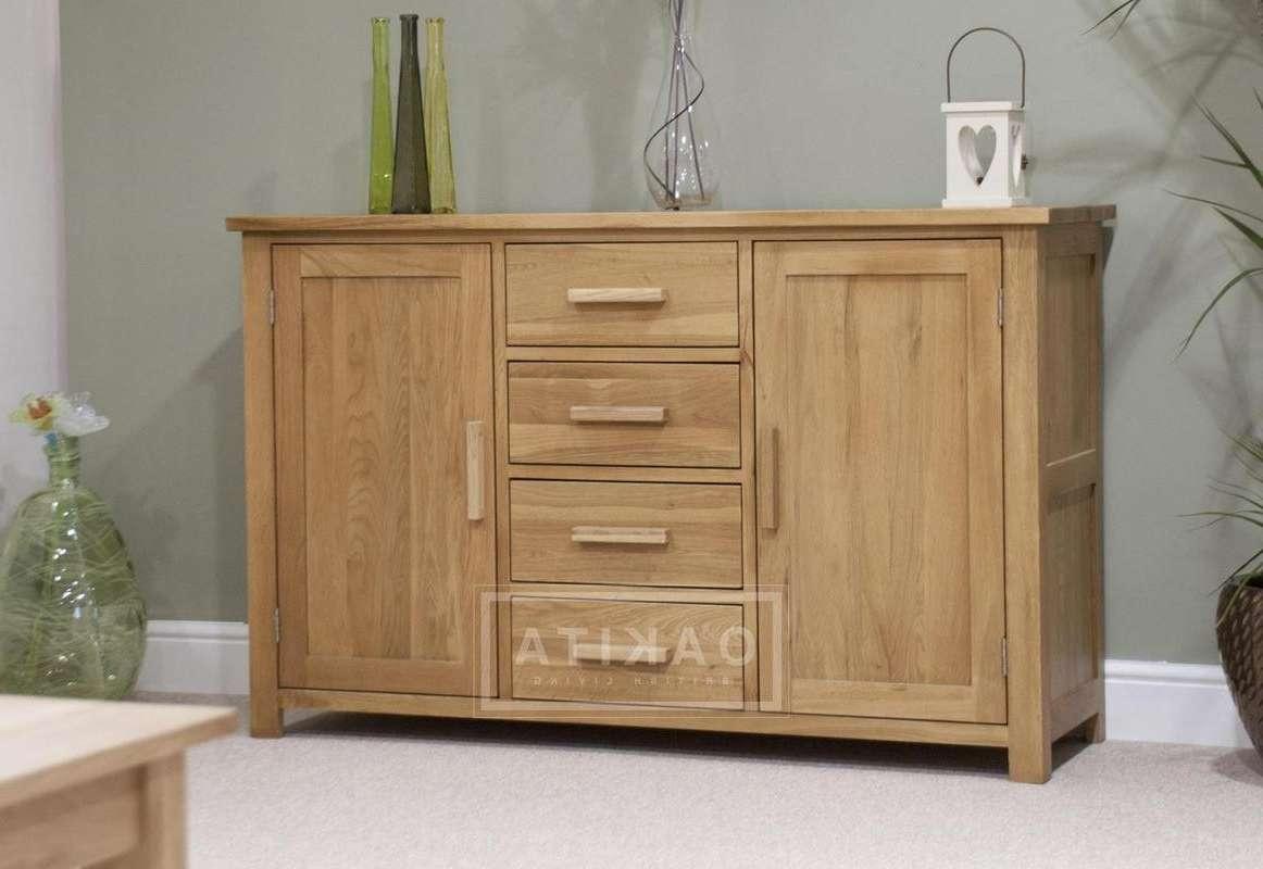 Edinburgh Solid Oak Large Sideboard – Oak Sideboards – Oak In Solid Oak Sideboards (View 14 of 20)