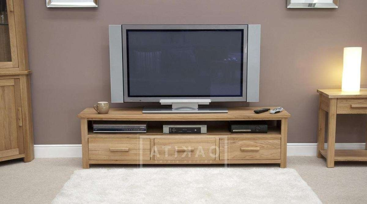 Edinburgh Solid Oak Large Tv Cabinet – Oak Tv Stands For Large Tv Cabinets (View 8 of 20)