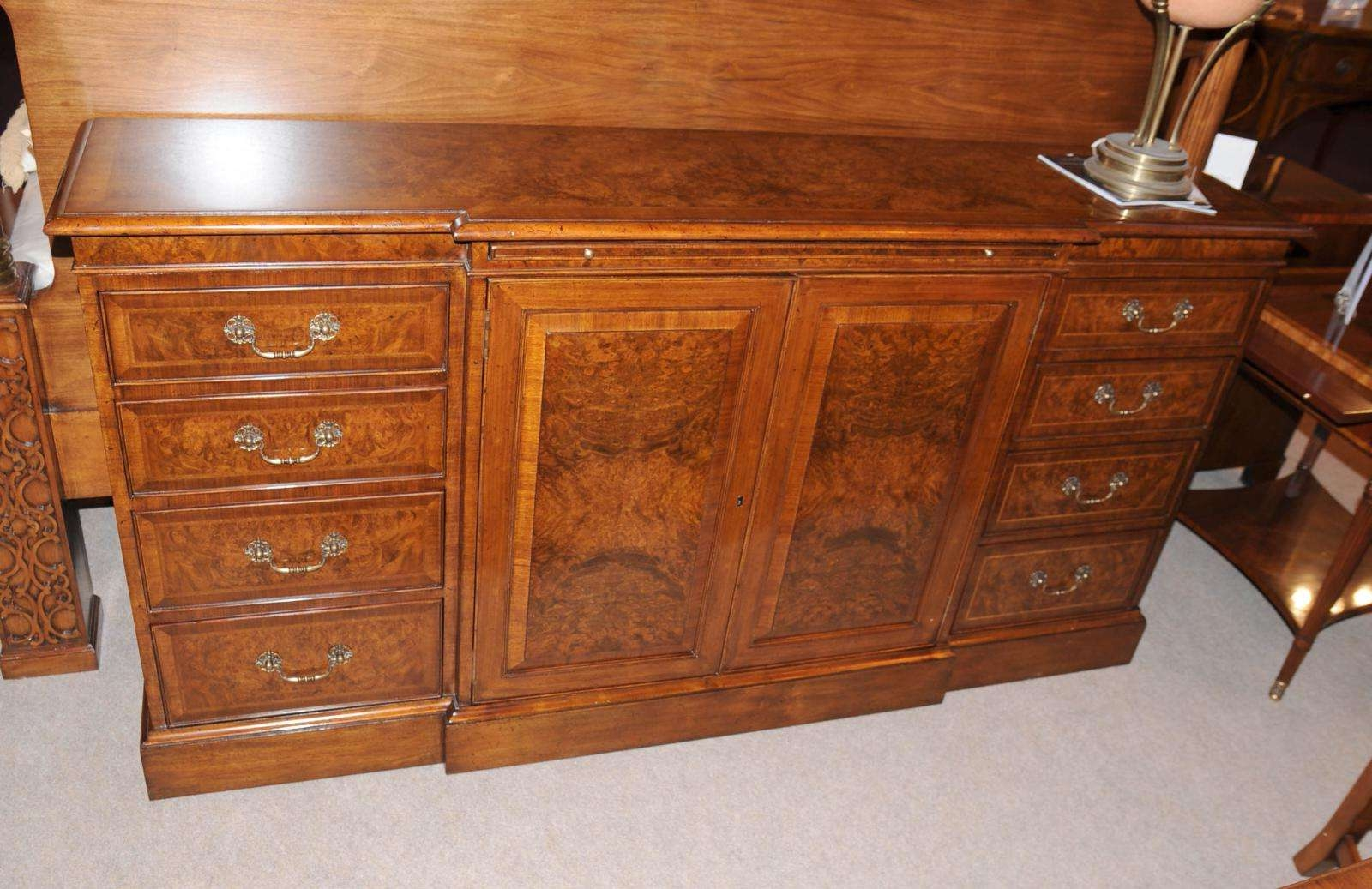 Edwardian Walnut Antique Sideboards — All About Home Design Regarding Antique Sideboards Buffets (View 19 of 20)
