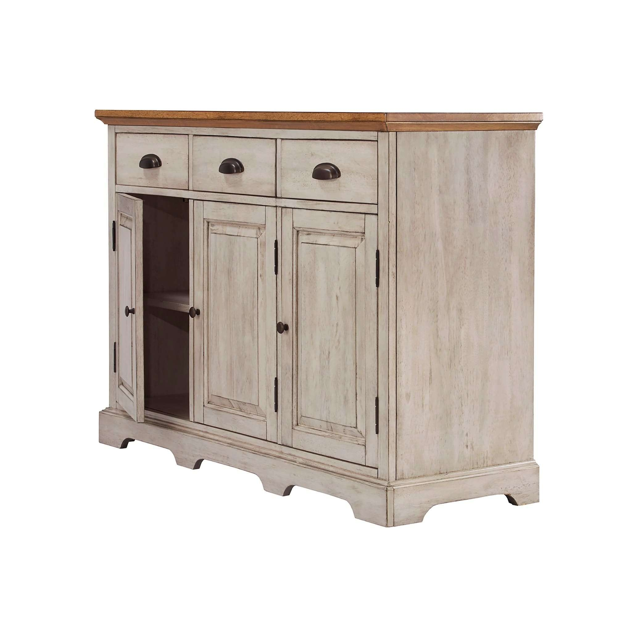 Eleanor Two Tone Wood Cabinet Buffet Serverinspire Q Classic In 50 Inch Sideboards (View 10 of 20)