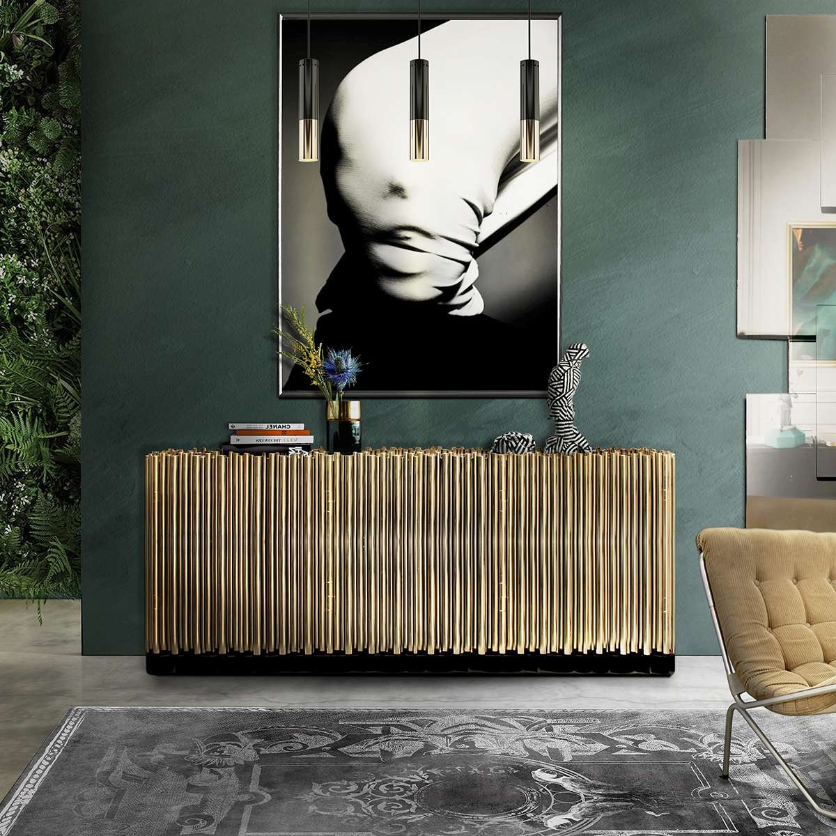 Elegant Dining Room Sideboard Decorating Ideas With Elegant Sideboards (View 2 of 20)