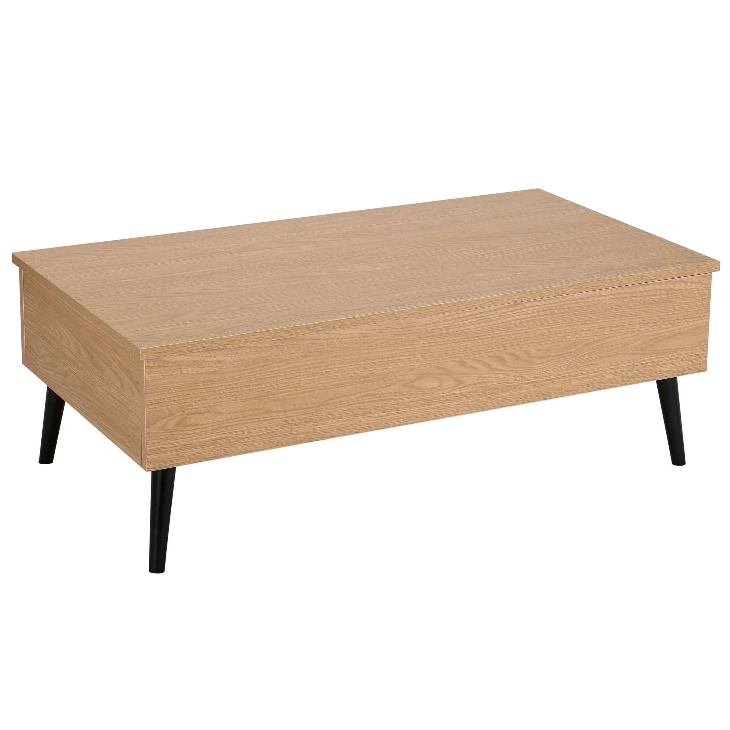 Elliot Wood Lift Top Storage Coffee Tablechristopher Knight Inside Trendy Wooden Storage Coffee Tables (View 6 of 20)
