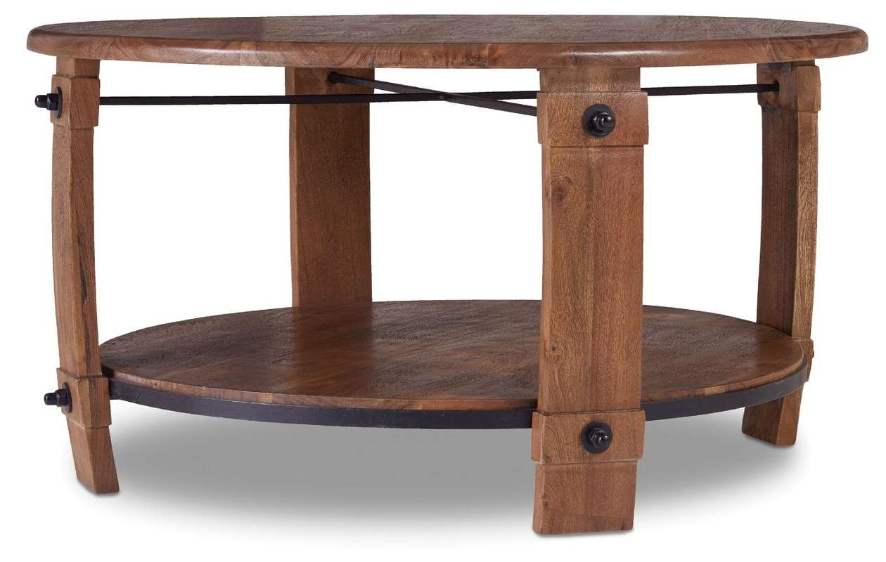 Eloise Round Wine Barrel Coffee Table With Magazine Rack & Reviews Regarding Famous Coffee Tables With Magazine Rack (View 18 of 20)