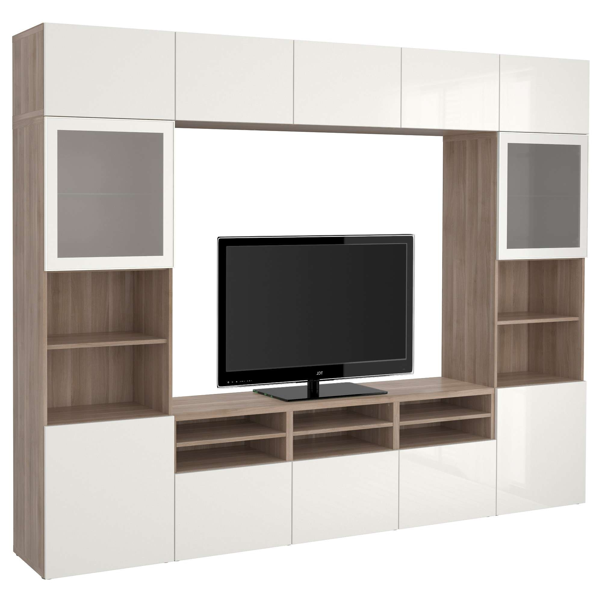 Endearing Media Console Ikea Design Decoration Of Tv Stands Intended For Corner Tv Cabinets With Glass Doors (View 7 of 20)