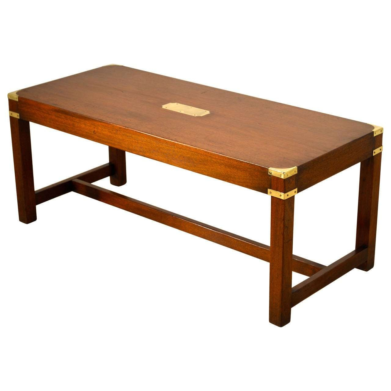 English Campaign Coffee Table, Circa 1940 At 1Stdibs Inside Best And Newest Campaign Coffee Tables (Gallery 1 of 20)