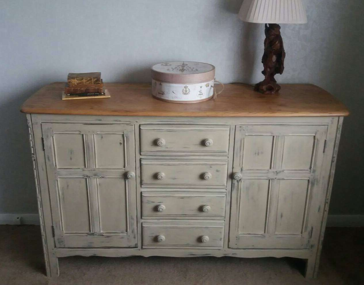 Ercol Sideboard Beautifully Upcycled In Shabby Chic Style Pertaining To Shabby Chic Sideboards (View 4 of 20)